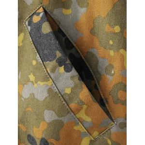 Letter Patched Camouflage Jacket -