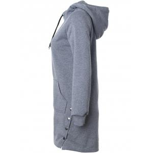 Drawstring Side-Buttoned Hoodie -