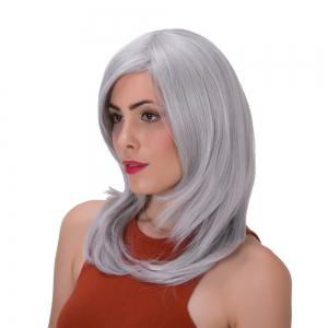 Stunning Long Side Bang Layered Tail Adduction Synthetic Wig -