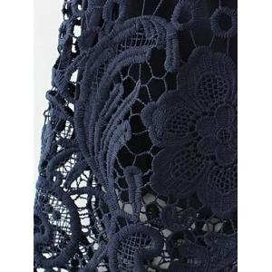 Embroidered Lace Bodycon Skirt - CADETBLUE S