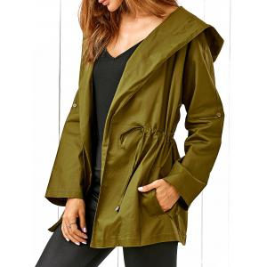 Drawstring Hooded Field Jacket -