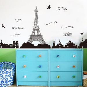 Removable Eiffel Tower Wall Stickers Room Decoration -