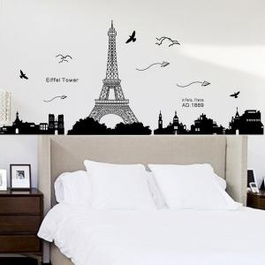 Removable Eiffel Tower Wall Stickers Room Decoration - BLACK