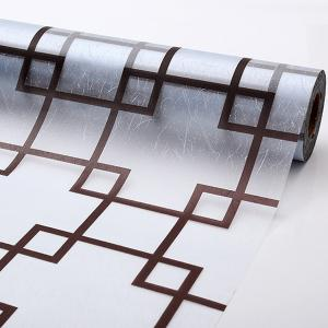 Waterproof Plaid Design Removable Window Bathroom Wall Stickers - TRANSPARENT