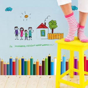 Pencil Removable Kids Room Wall Stickers -