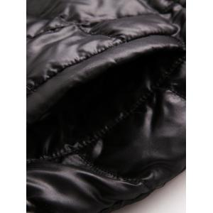 Belted Hooded Quilted Coat -