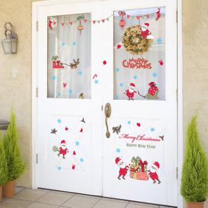 Merry Christmas Removable Showcase Room Decoration Wall Stickers -