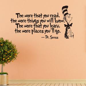 The More English Proverb Removable Vinyl Wall Decal Stickers -