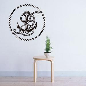 Creative Anchor Removable Living Room Decor Wall Stickers - BLACK