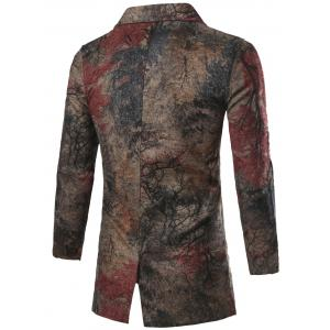 Single Breasted All-Over Printed Coat - COLORMIX 2XL