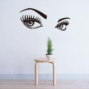 95*42CMCharming Eyes Pattern Removable Wall Stickers Room Decor - BLACK