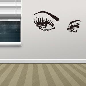 95*42CMCharming Eyes Pattern Removable Wall Stickers Room Decor -