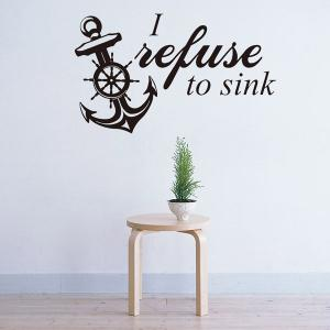 Vinyl Removable Anchor Quote Room Decor Wall Stickers -