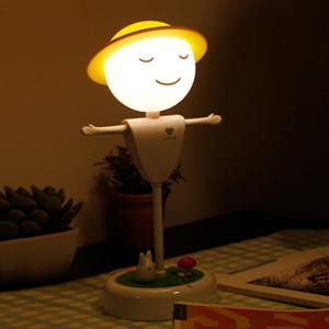 Creative Induction LED USB Charging Scarecrow Micro Landscape Night Light -