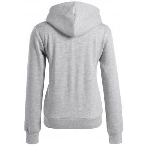 Long Sleeve Letter Print Christmas Pullover Hoodie - GRAY XL