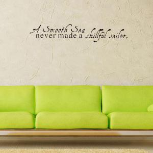 Motivational Removable Quote Wall Stickers - BLACK