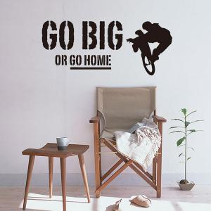 Removable Go Big Or Go Home Proverb Room Office Wall Stickers -