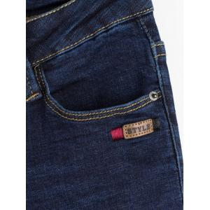 Ripped Bleach Wash Stretchy Jeans -