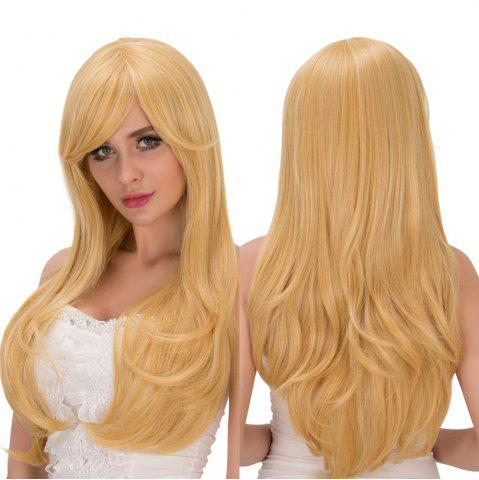 Unique Inclined Bang Long Wavy Tail Adduction Lolita Wig