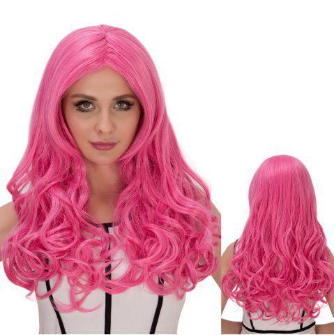 New Long Fluffy Wavy Centre Parting Synthetic Lolita Wig