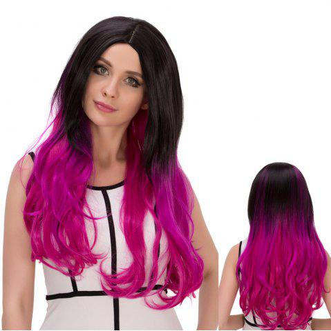 Fancy Colormix Long Shaggy Wavy Centre Parting Synthetic Lolita Wig