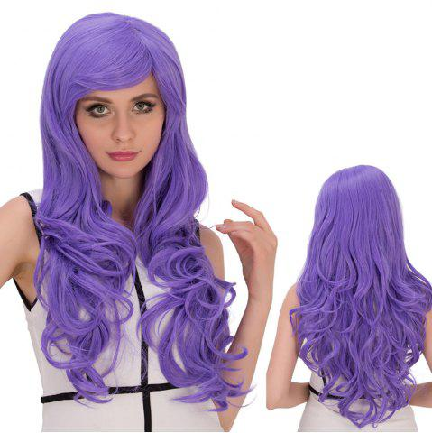 Trendy Long Shaggy Wavy Inclined Bang Synthetic Lolita Wig