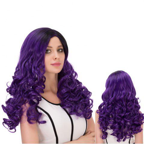 Buy Ombre Side Parting Long Fluffy Wavy Synthetic Lolita Wig