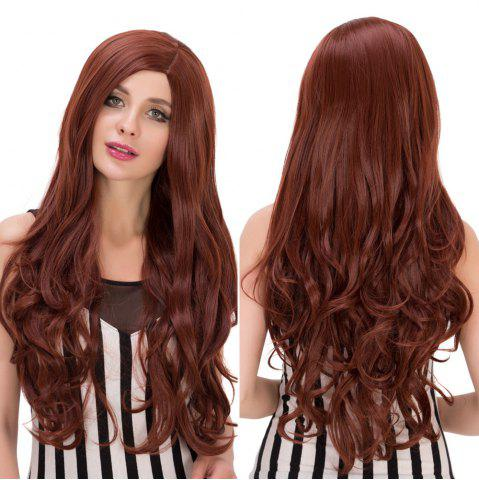 Outfits Long Wavy Side Parting Heat Resistant Fiber Wig DARK AUBURN