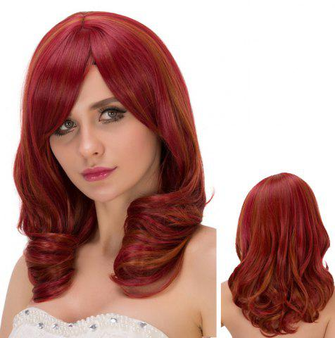 Store Medium Side Bang Curly Heat Resistant Fiber Wig
