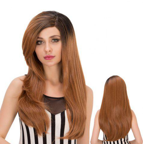 Affordable Long Layered Side Bang Tail Adduction Heat Resistant Fiber Wig