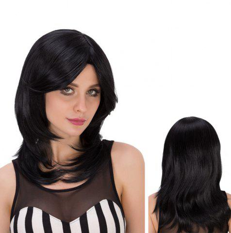 New Medium Side Bang Tail Adduction Heat Resistant Fiber Wig