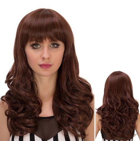 Outfit Long Neat Bang Fluffy Wavy Heat Resistant Fiber Wig