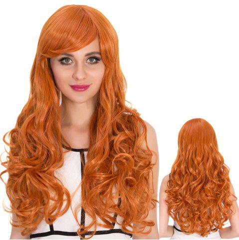 Store Long Side Bang Wavy Sparkling Cosplay Synthetic Wig