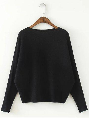 Fashion Comfortable Dolman Sleeve Knitted Sweater