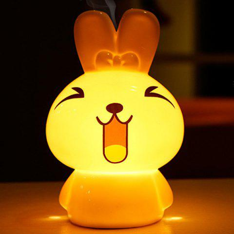 Outfit Essential Oil Drive Midge Purify Air Cartoon Ceramic NiNi Rabbit Night Light WHITE