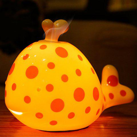 Cheap Essential Oil Drive Midge Purify Air Cartoon Ceramic Dolphin Night Light ORANGE RED