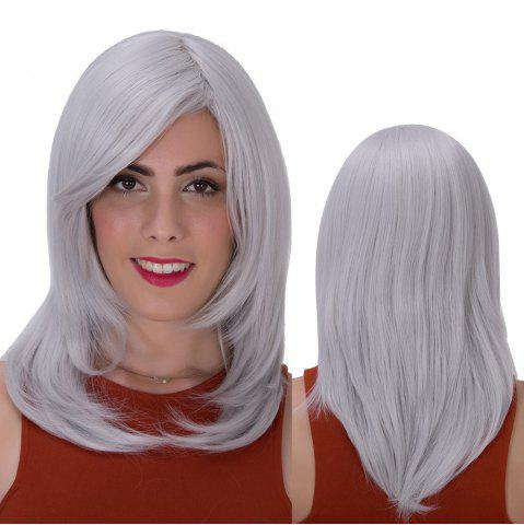 Discount Stunning Long Side Bang Layered Tail Adduction Synthetic Wig