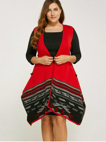 Fashion Plus Size Handkerchief Waistcoat with Chinese Button