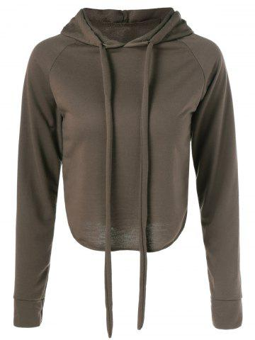 Hot Long Sleeve Pullover Hoodie BROWN L
