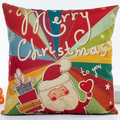Unique Colorful Santa Claus Hot Sell Decorative Household Pillow Case COLORFUL