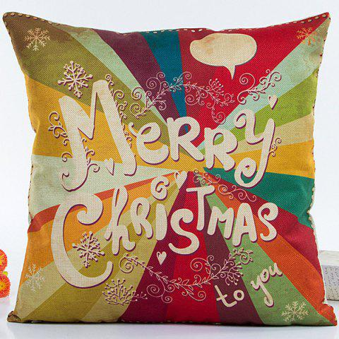 Best Colorful Merry Christmas Hot Sell Decorative Household Pillow Case COLORFUL