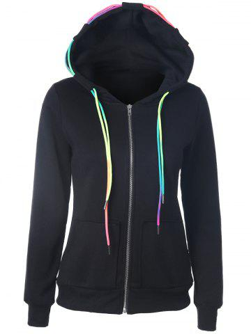 Best Drawstring Casual Zipper Up Hoodie