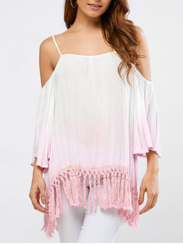 Buy Fringed Ombre Color Blouse