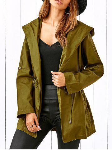 Store Drawstring Hooded Field Jacket