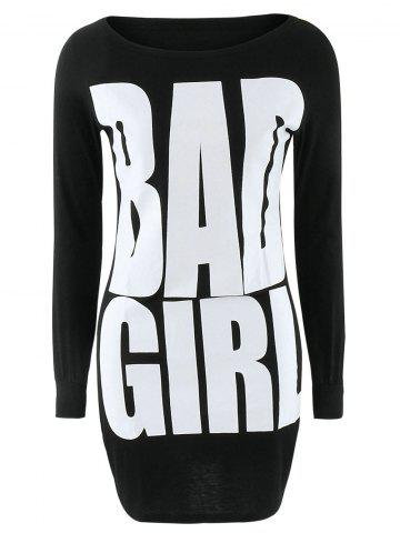 Outfits Bad Girl Graphic Slimming Dress