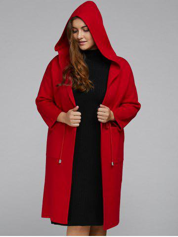 Sale Hooded Plus Size Coat with Pockets