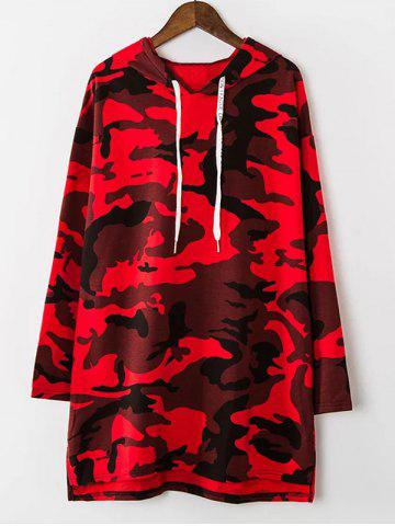 Buy Loose Camouflage Long Hoodie