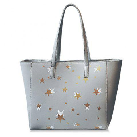 New Star Pattern Colour Block Shoulder Bag