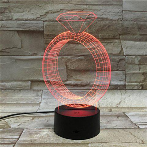 Best 3D Illusion Ring 7 Color Changing LED Valentine Gift Night Light