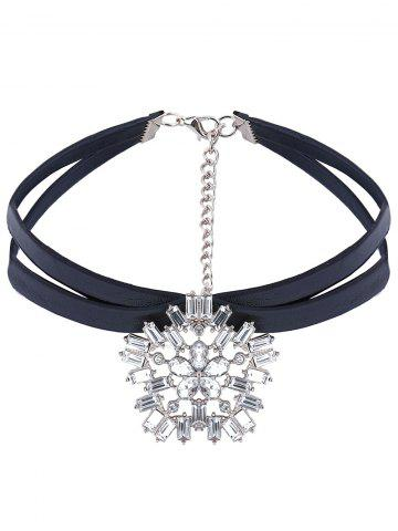 Sale PU Leather Rhinestone Layered Choker